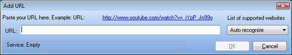 VideoGet add link dialog. XNXX grabber