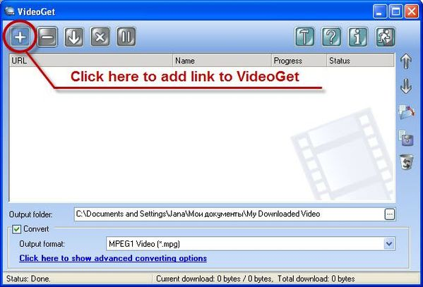 Add link to download video