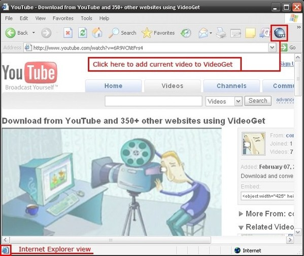 Cómo descargar videos youtube Internet Explorer